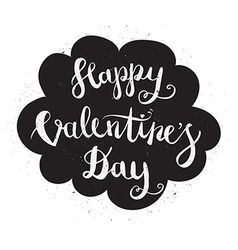 Happy valentines day hand drawing pen brush vector