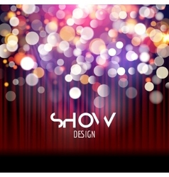 Super show poster template with bokeh lights vector