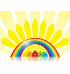 under the rainbow vector image