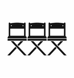 Chairs icon simple style vector