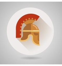 Ancient helmet flat logo vector