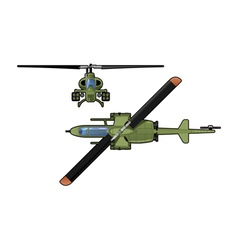 Attack helicopter vector