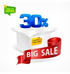 Big sale concept vector