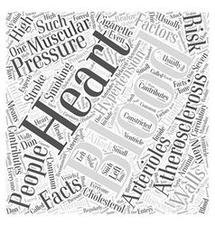 Blood presure facts word cloud concept vector