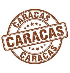 Caracas brown grunge round vintage rubber stamp vector