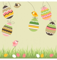 cartoon eggs and birds vector image vector image