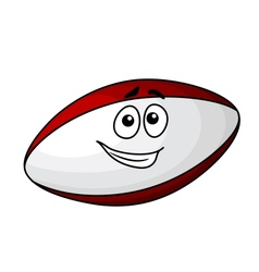 Cartoon rugby ball vector image vector image