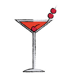 Cocktail drink fruit juice alcoholic cold vector