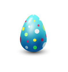 easter egg painted with spring pattern vector image