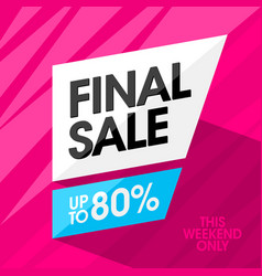 final sale banner design template vector image vector image