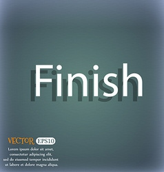 Finish sign icon power button on the blue-green vector
