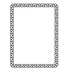 forged openwork metal abstract black frame vector image vector image