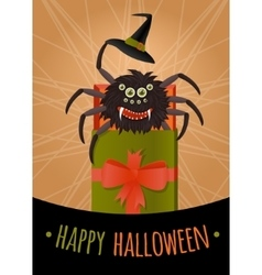 Funny surprise for Halloween vector image vector image