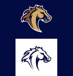 horse head sport logotype vector image vector image