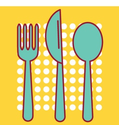 Knife fork and tablespoon vector