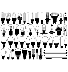 Light bulbs set vector image vector image