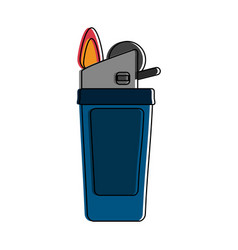lighter fire icon image vector image
