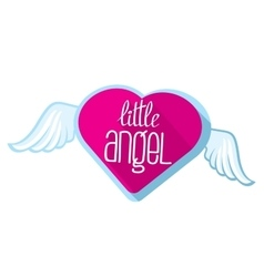 Little angel lettering for girl t-shirt vector