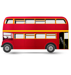 London red bus isolated on white background vector