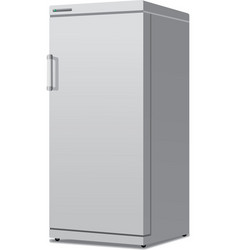 Modern closed fridge vector