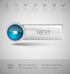 Modern glossy button vector