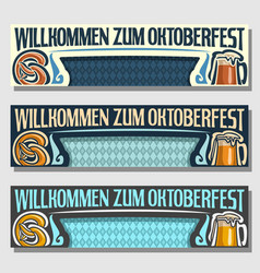 oktoberfest banners vector image vector image