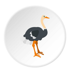 ostrich icon circle vector image