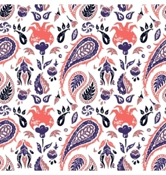 Seamless paisley pattern in a lavander colors vector