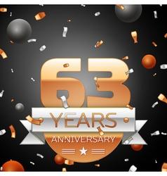Sixty three years anniversary celebration vector
