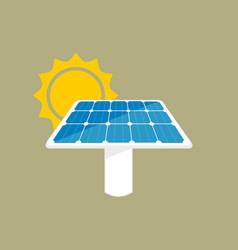 solar panel icon sun energy panel vector image vector image