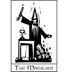 The Magician Tarot Card vector image vector image