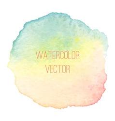 Watercolorrainbowspot vector