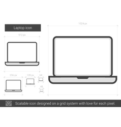 Laptop line icon vector