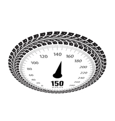 Speedometer  styling by tire vector