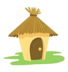 Hut icon cartoon style vector
