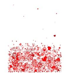 Valentine frame for your design vector image