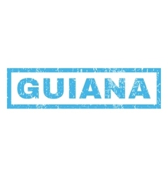 Guiana rubber stamp vector