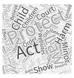 Child online protection act word cloud concept vector
