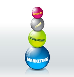 Marketing concept vector image