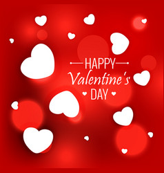 Elegant red background with white hearts for vector