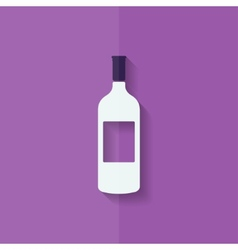 Wine bottle icon flat design vector