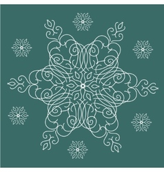 Vintage christmas background with isolated vector