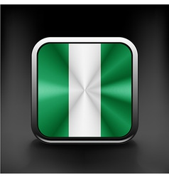Flag of nigeria national travel icon country vector