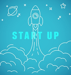 start up concept in linear style vector image