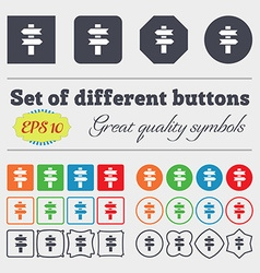 Line directs icon sign big set of colorful diverse vector