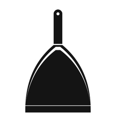 Dustpan black simple icon vector