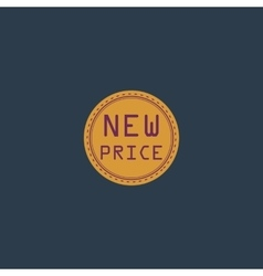 New price icon badge label or sticker vector