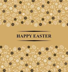 Easter gold horisontal vector