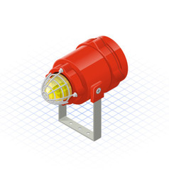 Isometric beacon a safety equipment tool vector
