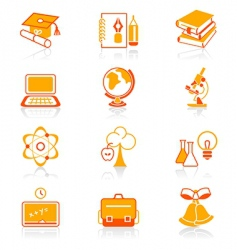 Education objects icons  juicy series vector